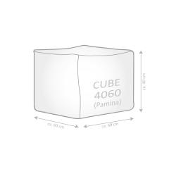 Naturfell-Sitzsack PAMINA-Cube petrol mit Inlett