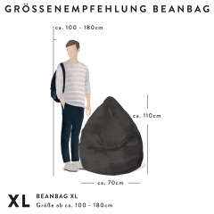 Sitzsack BEANBAG XL CORDONE Kord in marsala