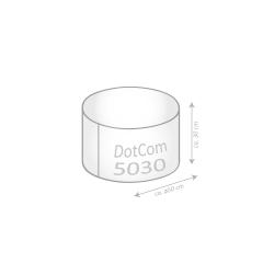 Sitzsack Keiko Dot.Com Digitaldruck in graublau
