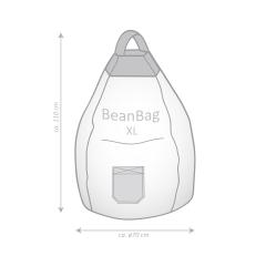 Sitzsack Jamie XL ca. 220 Liter sand