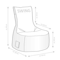 Sitzsack-Set Scuba Swing + Hocker aubergine
