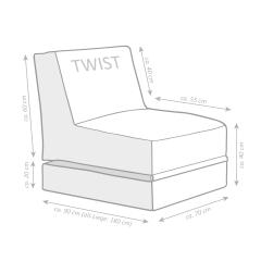 Sitzsack Scuba Twist anthrazit