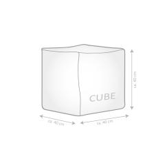 Sitzsack Scuba Cube 40x40x40cm jeansblau