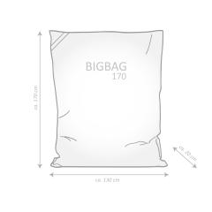 Sitzsack Brava Big Bag TRIGON 130x170cm orange