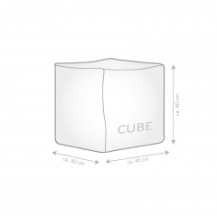 Sitzsack Scuba Cube 40x40x40cm rot