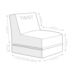 Sitting Point OUTSIDE Twist grau (Outdoor/Indoor)