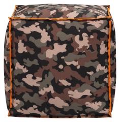 Sitzsack Cube CAMOUFLAGE ca. 40x40 oliv
