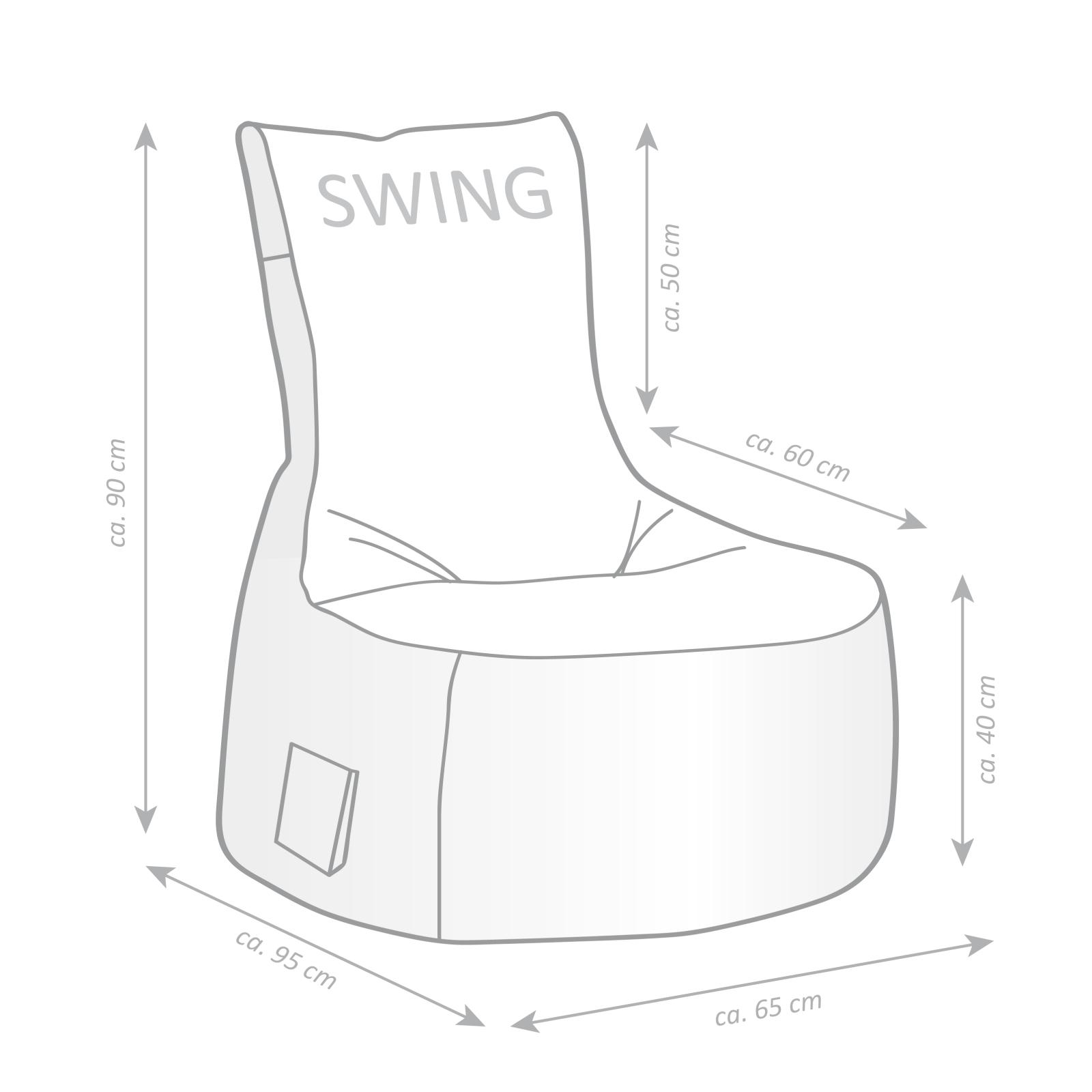 Sitzsack Set Brava Swing Hocker Grün