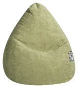 Sitzsack ALFA Velours grün L ca. 120L