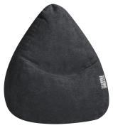 Sitzsack ALFA Velours schwarz XL ca. 220L