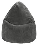 Sitzsack BEANBAG XL CORDONE Kord in anthrazit