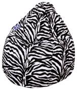Sitzsack Afro XL ca. 220 Liter (Zebra)