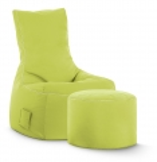 Sitzsack-Set Brava Swing + Hocker grün