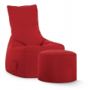 Sitzsack-Set Scuba Swing + Hocker rot