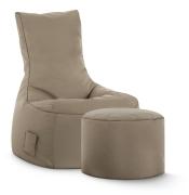 Sitzsack-Set Scuba Swing + Hocker khaki
