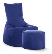 Sitzsack-Set Scuba Swing + Hocker dunkelblau