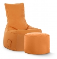 Sitzsack-Set Brava Swing + Hocker orange