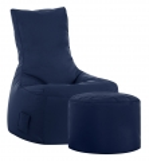 Sitzsack-Set Brava Swing + Hocker jeansblau