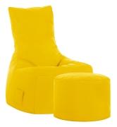 Sitzsack-Set Brava Swing + Hocker gelb