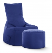 Sitzsack-Set Brava Swing + Hocker dunkelblau