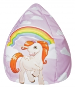 Kindersitzsack Unicorn rose XL ca. 220 Liter