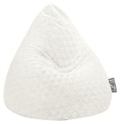 Sitzsack FLUFFY HEARTS L ca. 120 Liter weiß (bis ca. 7 Jahre)